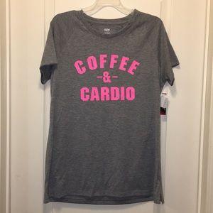 NWT COFFEE & CARDIO RAGLAND SLEEV…